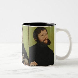 Caneca De Café Em Dois Tons Três retratos de Martin Luther