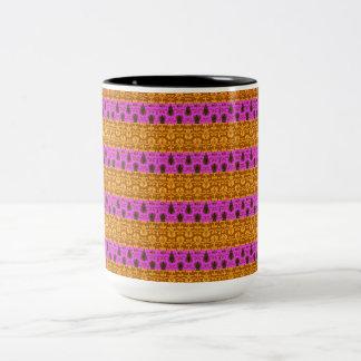 Caneca De Café Em Dois Tons Tribal-Encanto-Cor-de-rosa-Ouro-Multi-Estilo