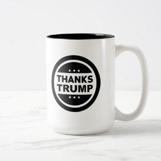 Caneca De Café Em Dois Tons Trunfo dos obrigados