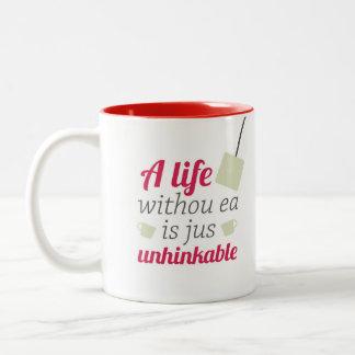 Caneca De Café Em Dois Tons Uma vida sem ea