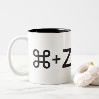 Caneca De Café Em Dois Tons (Undo) controle+Z