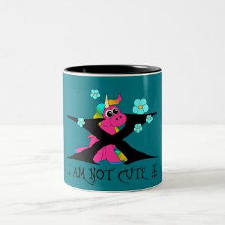 Caneca De Café Em Dois Tons Unicorn - not j a cute!