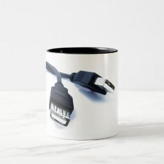 Caneca De Café Em Dois Tons usb nerd mug
