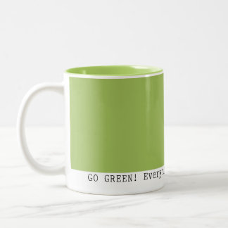 Caneca De Café Em Dois Tons Vai o verde