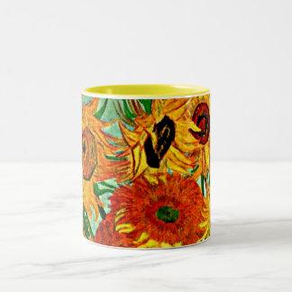 Caneca De Café Em Dois Tons Van Gogh - girassóis 12