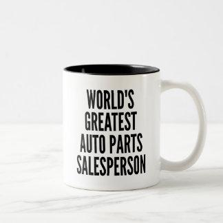 Caneca De Café Em Dois Tons Vendedor das peças de automóvel dos mundos o