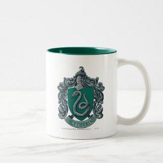 Caneca De Café Em Dois Tons Verde da crista de Harry Potter | Slytherin
