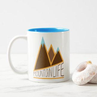 Caneca De Café Em Dois Tons Vida da montanha