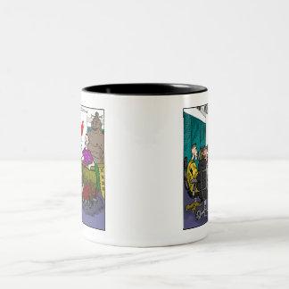 Caneca De Café Em Dois Tons Vida incorporada moderna