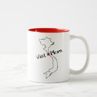 Caneca De Café Em Dois Tons Viet*Mom! Comemore a mãe de miúdos vietnamianos
