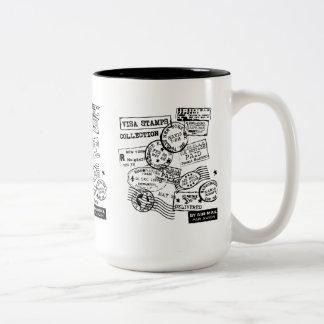 CANECA DE CAFÉ EM DOIS TONS VISAS CUP