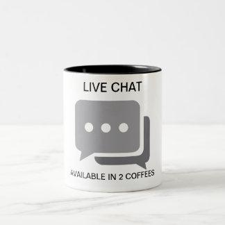 Caneca De Café Em Dois Tons VIVE O BATE-PAPO: após 2 chávenas de café