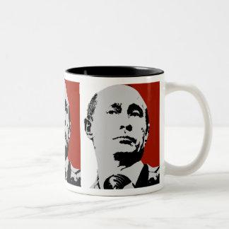 Caneca De Café Em Dois Tons Vladimir Putin vermelho