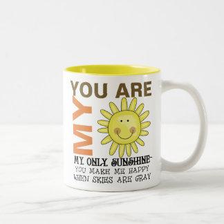 Caneca De Café Em Dois Tons Você é minha luz do sol