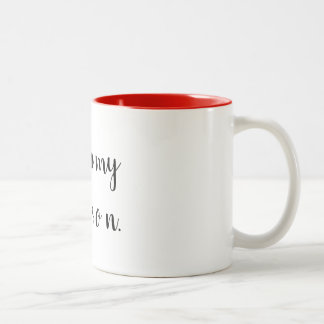 Caneca De Café Em Dois Tons você é minha pessoa
