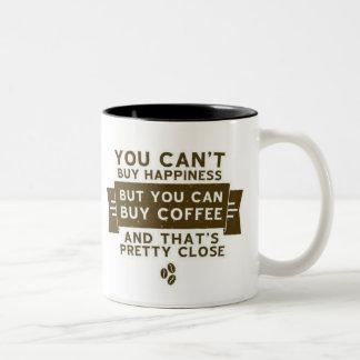 Caneca De Café Em Dois Tons Você não pode comprar a felicidade mas o café é