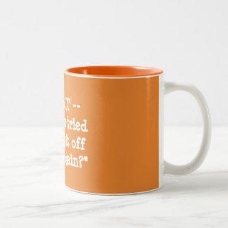 Caneca De Café Em Dois Tons Você tentou desligá-lo e sobre outra vez?