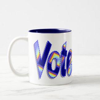 Caneca De Café Em Dois Tons Voto