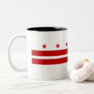 Caneca De Café Em Dois Tons Washington, bandeira da C.C.