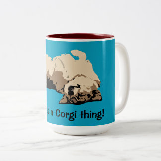 Caneca De Café Em Dois Tons Yeah, é uma coisa do Corgi