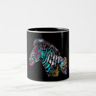 Caneca De Café Em Dois Tons Zebra dos grafites