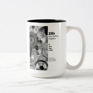 Caneca De Café Em Dois Tons Zills: Música em suas pontas do dedo - para