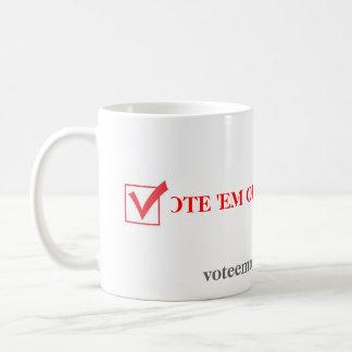 Caneca De Café Em para fora 2012 do voto