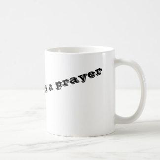 Caneca De Café Em um sorvo e em uma oração