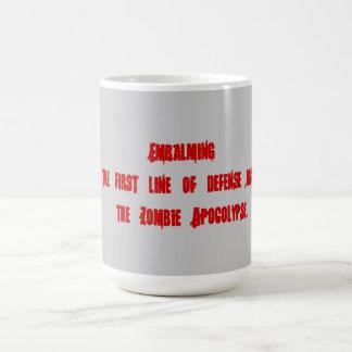 Caneca De Café Embalsamando como meios impedir zombis