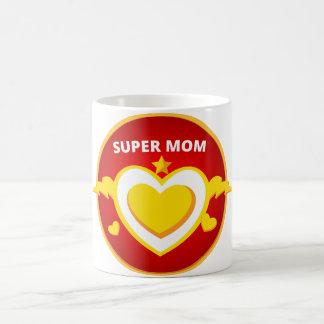 Caneca De Café Emblema engraçado da mamã do flash do super-herói