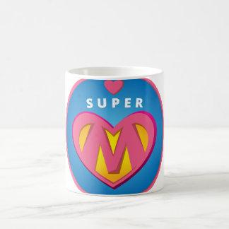 Caneca De Café Emblema engraçado da mamã do Superwoman do
