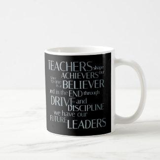 Caneca De Café Empreendedores da forma dos professores