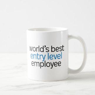 Caneca De Café Empregado do nível básico do mundo o melhor