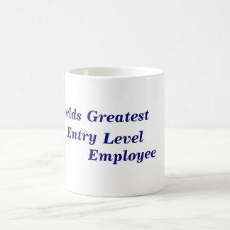 Caneca De Café Empregado do nível básico dos mundos o grande