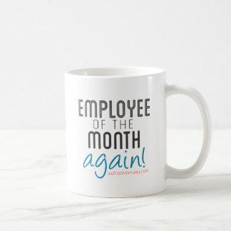 Caneca De Café Empregado do trabalho em casa do mês outra vez
