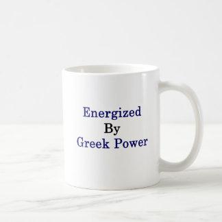Caneca De Café Energizado pelo poder grego