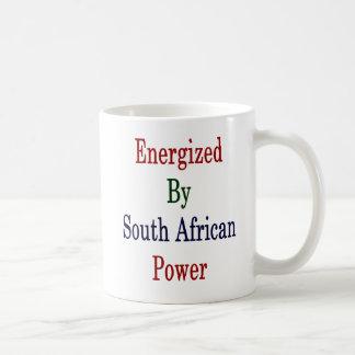 Caneca De Café Energizado pelo sul - poder africano