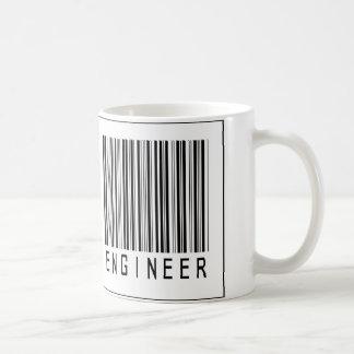 Caneca De Café Engenheiro biomedicável do código de barras