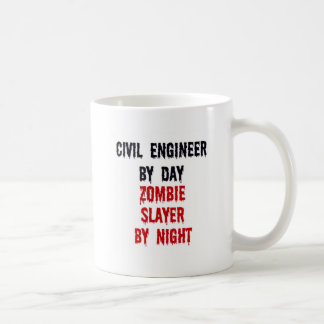 Caneca De Café Engenheiro civil pelo assassino do zombi do dia em