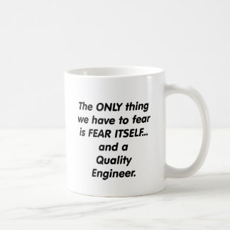 Caneca De Café engenheiro da qualidade do medo