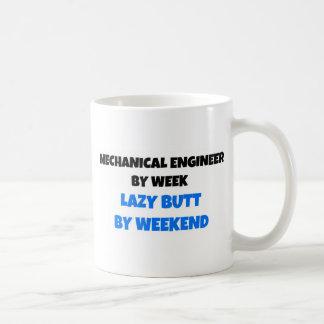Caneca De Café Engenheiro mecânico pelo bumbum preguiçoso da