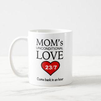 Caneca de café engraçada - amor 23/7 da mãe