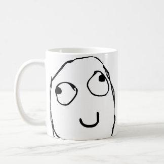 Caneca de café engraçada cómica da cara da raiva