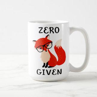 Caneca de café engraçada dada Fox zero das