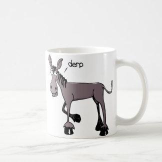 Caneca de café engraçada do asno de Derp
