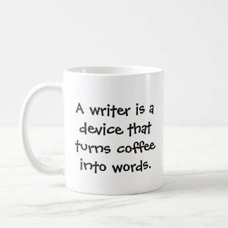 Caneca de café engraçada do escritor