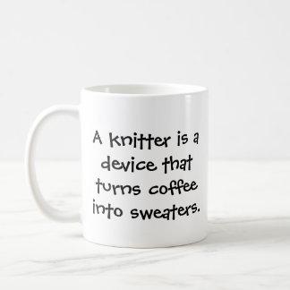 Caneca de café engraçada do Knitter