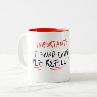 Caneca de café engraçada - tom dois - presente