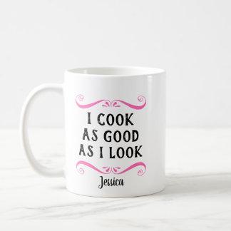Caneca De Café Engraçado personalizado eu cozinho tão bom como eu