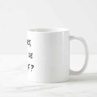 Caneca De Café ENTÃO, QUAL DE MEUF? - Jogos de palavras